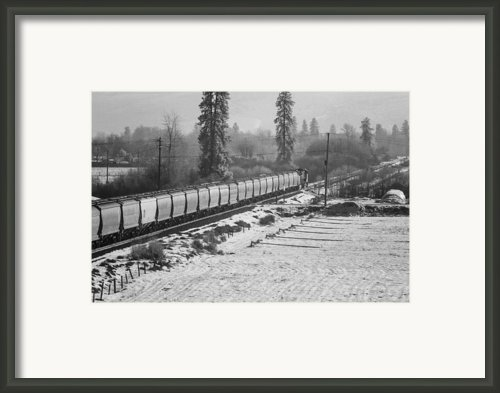 Montana Train Framed Print By Paul Bartoszek