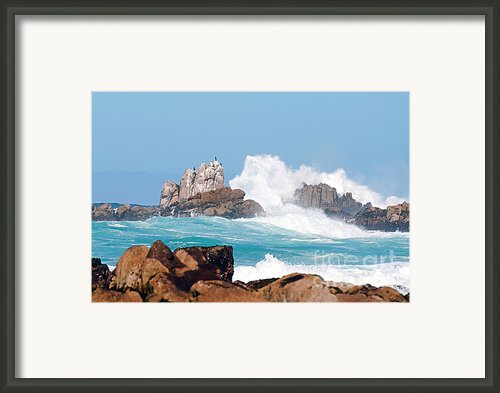 Monterey Bay Waves Framed Print By Author And Photographer Laura Wrede