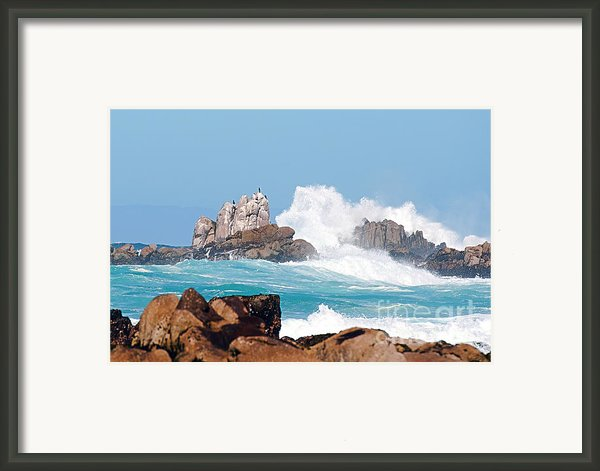 Monterey Bay Waves Framed Print By Artist And Photographer Laura Wrede