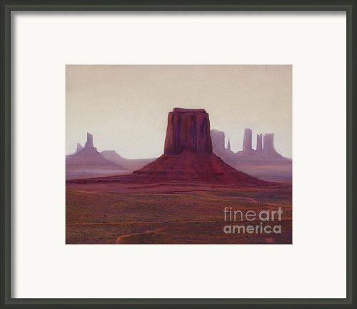 Monument Valley- Haze Framed Print By Xenia Sease
