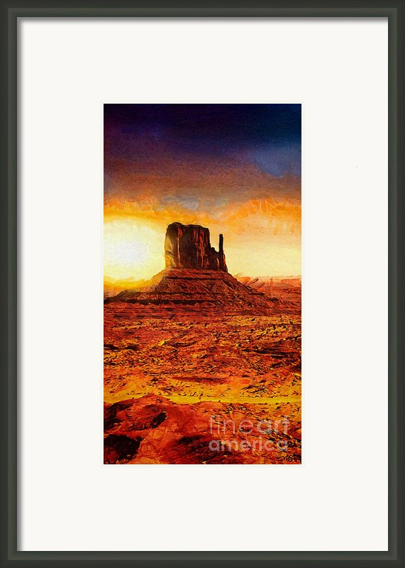 Monument Valley Framed Print By Mo T