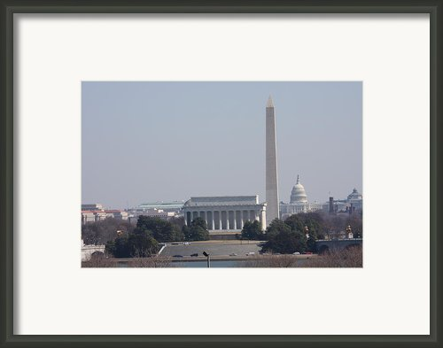 Monument View From Iwo Jima Memorial - 12121 Framed Print By Dc Photographer