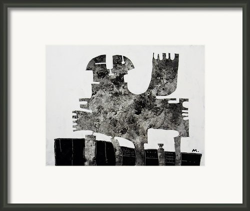 Monumentum No 1 Framed Print By Mark M  Mellon