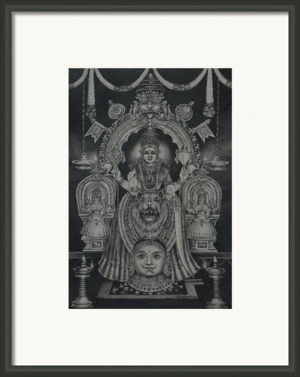 Mookambika Devi Framed Print By Asha Sasikumar