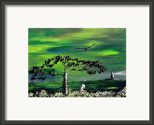Moomintroll And Lighthouse Framed Print By Anastasiya Malakhova