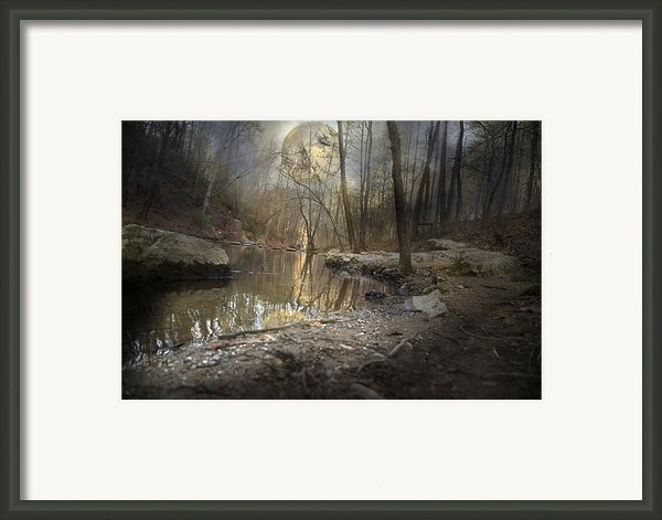 Moon Camp Framed Print By Betsy A  Cutler