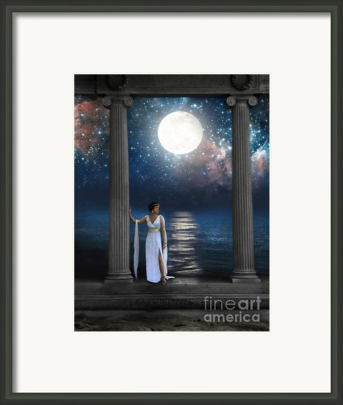 Moon Goddess Framed Print By Jill Battaglia