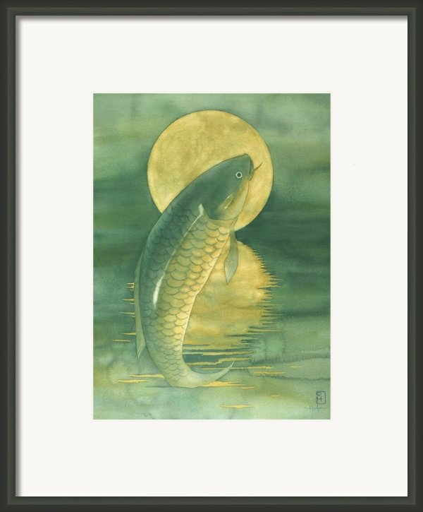 Moon Koi Framed Print By Robert Hooper