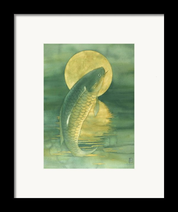 Moon Koi Framed Print By Robert Hooper