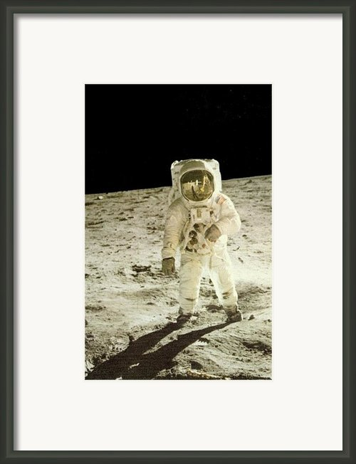 Moon Man Framed Print By Gunter  Hortz
