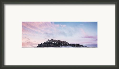 Moon Over The Mountain Framed Print By Jon Glaser