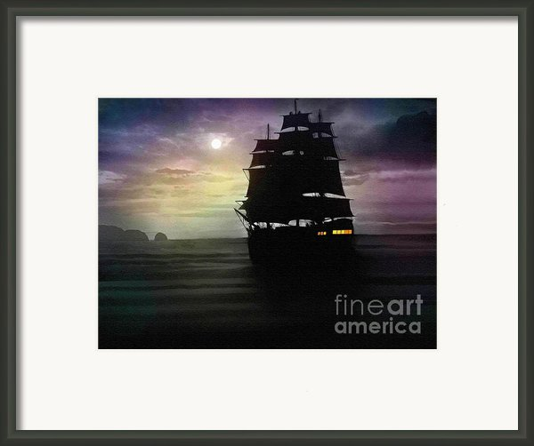 Moon Port Framed Print By Robert Foster