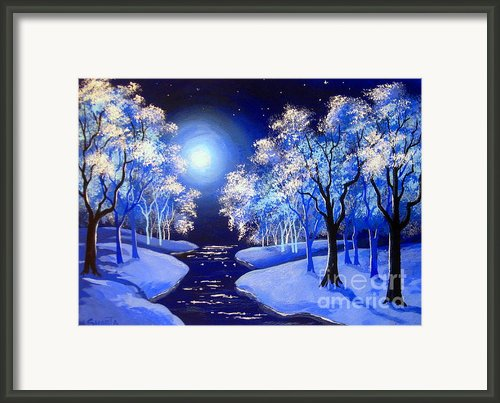 Moon  River . Framed Print By Shasta Eone