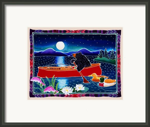 Moonlight On A Red Canoe Framed Print By Harriet Peck Taylor