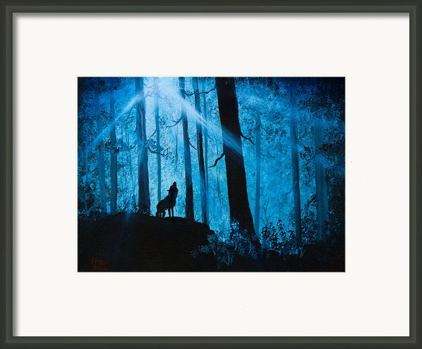 Moonlight Serenade Framed Print By C Steele