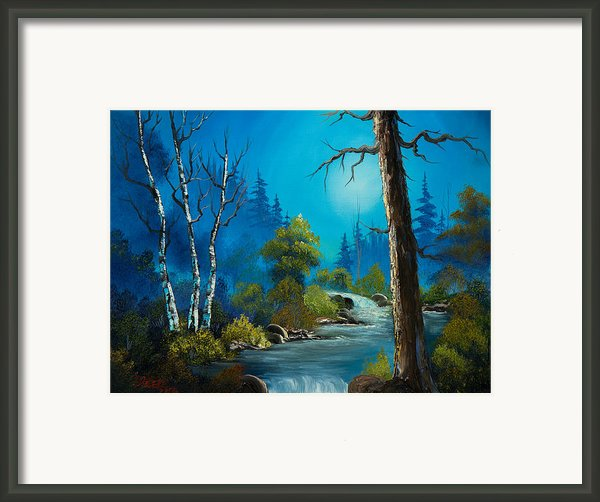 Moonlight Stream Framed Print By C Steele