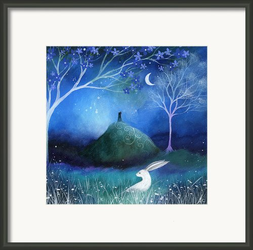 Moonlite And Hare Framed Print By Amanda Clark