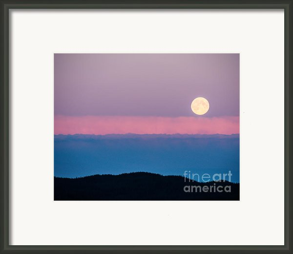 Moonrise Framed Print By Christina Klausen
