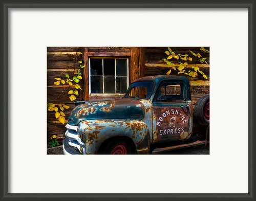 Moonshine Express Framed Print By Debra And Dave Vanderlaan