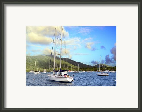 Moored To Relax Framed Print By Michael Glenn