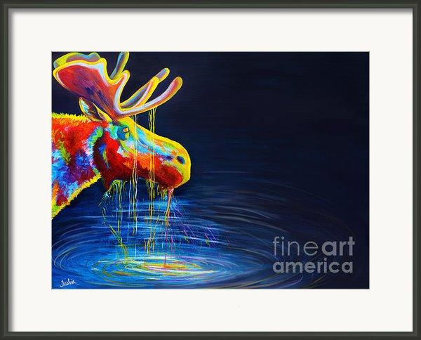Moose Drool   Framed Print By Teshia Art