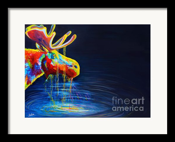 Moose Drool   Framed Print By Teshia Art