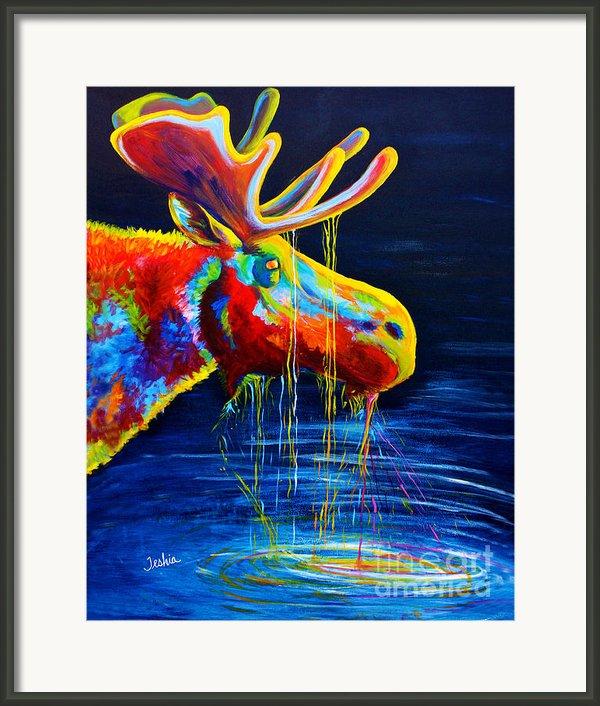 Moose Drool Framed Print By Teshiaart