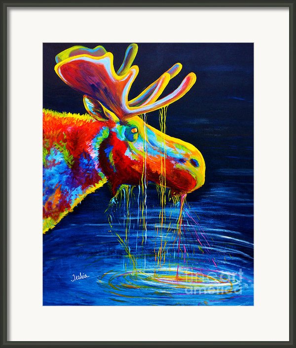 Moose Drool Framed Print By Teshiaart