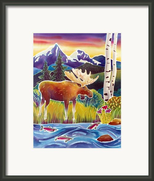 Moose On Trout Creek Framed Print By Harriet Peck Taylor