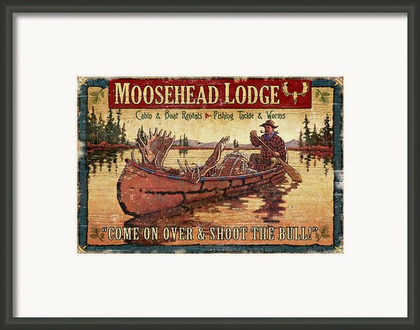 Moosehead Lodge Framed Print By Jq Licensing