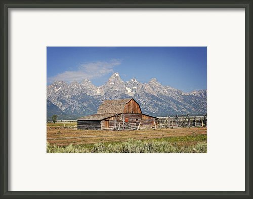 Mormon Barn 2 Framed Print By Marty Koch