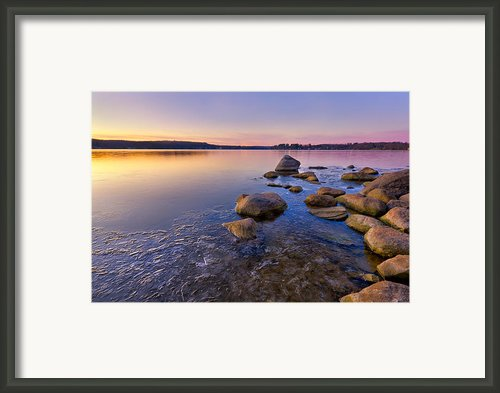 Morning Colors Framed Print By Bill  Wakeley