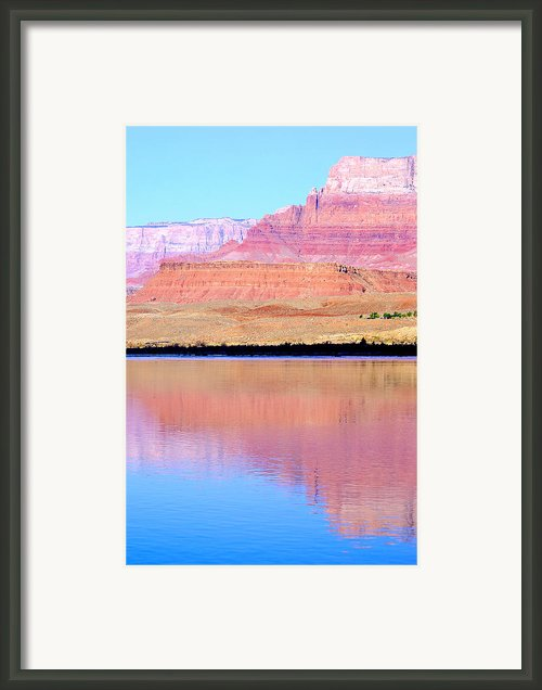 Morning Light - Vermillion Cliffs And Colorado River Framed Print By Douglas Taylor