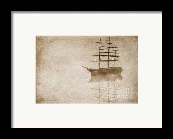 Morning Mist In Sepia Framed Print By John Edwards