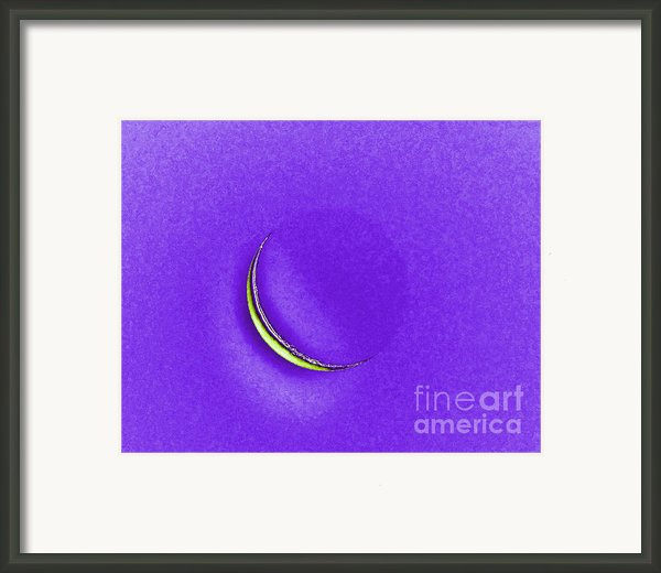 Morning Moon Purple Framed Print By Al Powell Photography Usa