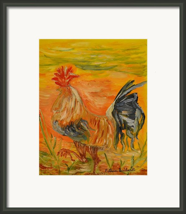 Morning Stroll Framed Print By Louise Burkhardt