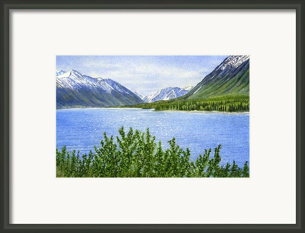 Morning Sun On Kenai Lake Framed Print By Sharon Freeman
