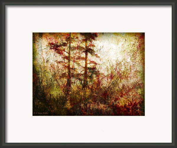 Morning Sunrise Burst Of Color Framed Print By J Larry Walker
