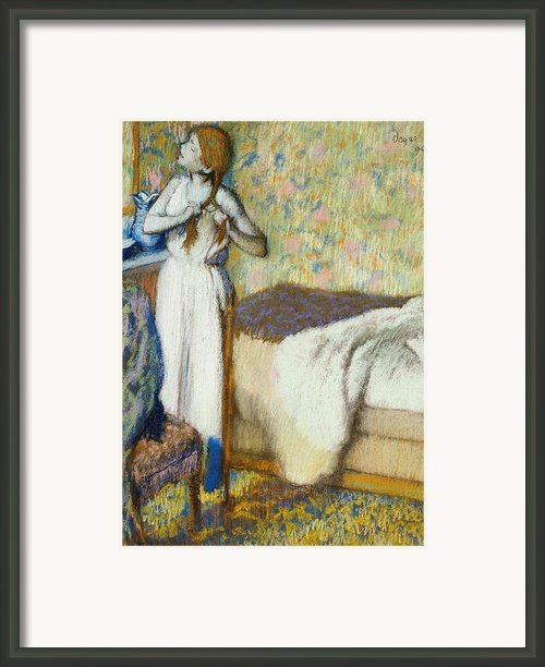 Morning Toilet Framed Print By Edgar Degas