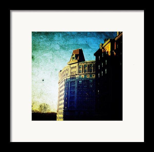 Morningside Heights Blue Framed Print By Natasha Marco