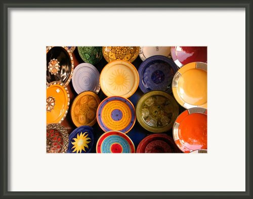 Moroccan Pottery On Display For Sale Framed Print By Artphoto-ralph A  Ledergerber-photography