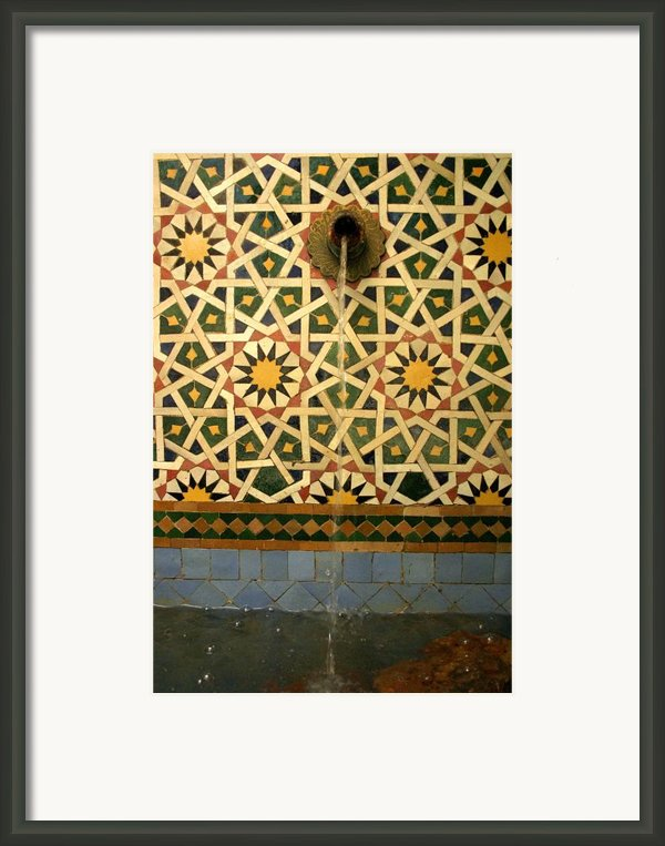 Moroccan Water Fountain Framed Print By Artphoto-ralph A  Ledergerber-photography