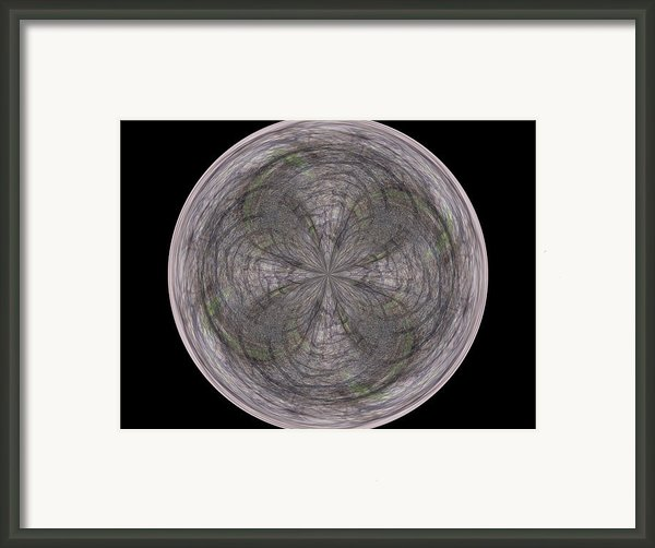 Morphed Art Globe 26 Framed Print By Rhonda Barrett