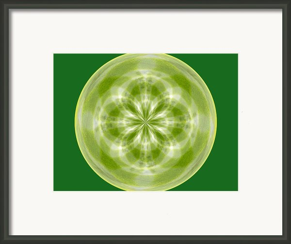 Morphed Art Globe 27 Framed Print By Rhonda Barrett
