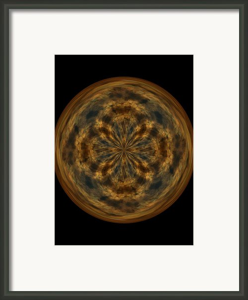 Morphed Art Globe 29 Framed Print By Rhonda Barrett