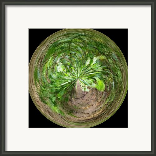 Morphed Art Globe 3 Framed Print By Rhonda Barrett