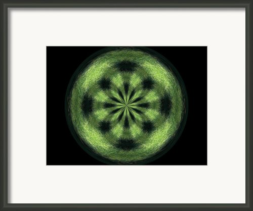 Morphed Art Globe 35 Framed Print By Rhonda Barrett