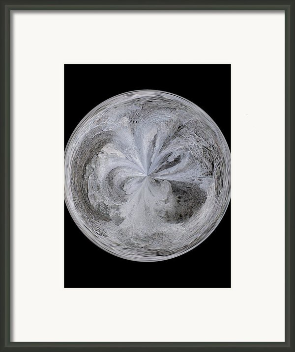 Morphed Art Globe 4 Framed Print By Rhonda Barrett