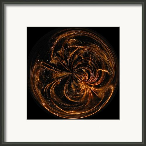 Morphed Art Globe 40 Framed Print By Rhonda Barrett