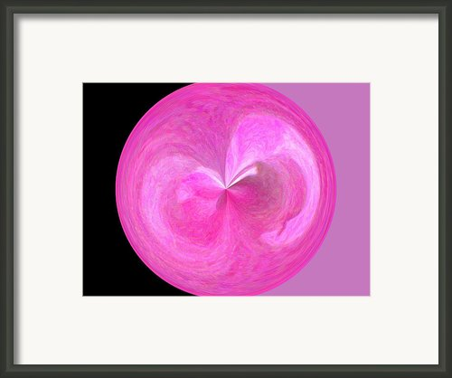 Morphed Art Globe 9 Framed Print By Rhonda Barrett